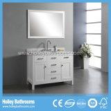 Accesorios clásicos del cuarto de baño de madera sólida de la alta conclusión con dos lavabos (BV130W)