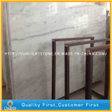 Azulejos de mármol blancos chinos Polished del suelo/de la pared del cuarto de baño de Guangxi del descuento