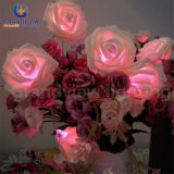 분홍색 LED 3 Meter 20 LED 로즈 Flower String Lights LED Wedding Party Decoration와 Xmas Gift