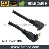 Nickel überzog 90 Mini-HDMI Typen c-Kabel des Grad-