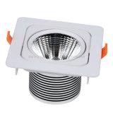 1つの穂軸の軽い15W土台のスポットライトの天井灯の点85-265V LEDランプが付いている正方形アルミニウムシェル