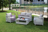 ホーム傾向の柳細工のテラスの家具の部品Hb41.9508の庭セット