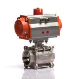 Dn25는 작동 2가지의 방법 압축 공기를 넣은 액추에이터 공 벨브를 골라낸다