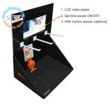 床Standing Counter Display Rack、LCD Screen (MW-079CSP)との現れCardboard Display Stand
