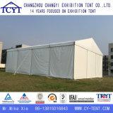 屋上展覧会のイベントの保管倉庫の産業テント