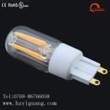 Lâmpada do bulbo G9 do filamento do diodo emissor de luz das vendas diretas G9 da fábrica com o UL de RoHS do Ce