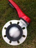 Vanne papillon de PVDF, vanne papillon en plastique, valve thermoplastique