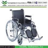 Médico de acero cromado de silla de ruedas con la PU de ricino