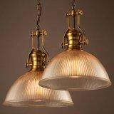 現代明確なガラスペンダントEdisionの球根とのハングランプの照明