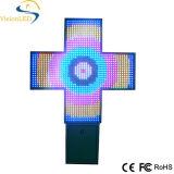 Cor cheia do RGB do azul verde vermelho da cruz 110cm da farmácia do diodo emissor de luz