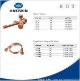 Tube capillaire en laiton d'ajustage de précision de pipe de dispositif de fixation avec la noix