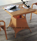 Tutta la mobilia di vimini del rattan della presidenza della mobilia del patio di Weatehr che pranza l'insieme di caffè esterno della Tabella & della presidenza (YTA004&YTD002-5)