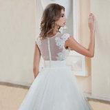 Платье венчания Tulle шнурка втулки крышки длиннее (SA002)