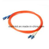 Cavo ottico del cavo di zona della fibra multimoda di LC LC Om2 50/125