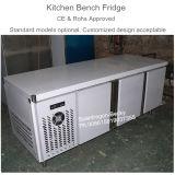 Frigorifero approvato del banco della cucina del Ce con la temperatura positiva