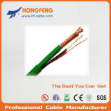 Conductor de cobre trenzado de CCTV / CATV Kx6 cable coaxial