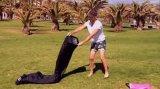 Het Opblaasbare Luchtbed Laybag van de Stof van het strand