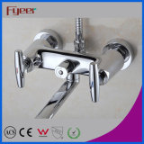Diverter를 가진 Fyeer Double Handle Long Spout Brass Bath Faucet