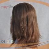Perruque en soie de pleine de Vierge de cheveu couleur intacte de Brown première