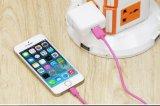 El PVC colorido aisló el cable de carga del USB del relámpago de 8 Pin para el iPhone 6/7