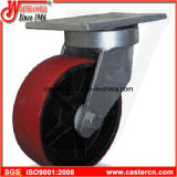 Echador resistente de la PU del cubo de la basura de 6 pulgadas