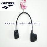 Macho de OBD2 16p 90 graus empacotados à linha conetor de Dusb 9pfemale de relação