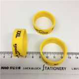 Mais recente chegada Vendas Custom Embossed Silicone Ring