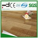 plancher en stratifié ciré d'Uniclic de technologie allemande de l'épreuve HDF de l'eau gravé en relief par 12mm (1010)