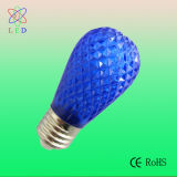 こはく色LED S14 Faceted 0.5W LED S14 E27 Christmas Light Bulbs