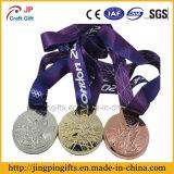 2017 ori su ordinazione di alta qualità/medaglie Bronze d'argento di sport con il nastro