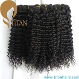 Trama de cabelo humano encaracolado natural natural preto e preto