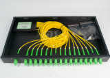 PLC Splitter di 1X2/1X4/1X8/1X16/1X32/1X64 Fiber Optic