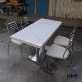 고품질 광택 있는 백색 단단한 지상 돌 중심 테이블