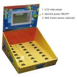 床Standing Counter Display Rack、LCD Screen (MW-079CSP)との現れCardboard Display Stand