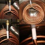 Calefator de água solar de cobre pressurizado pré-aquecido da câmara de ar de vácuo da bobina