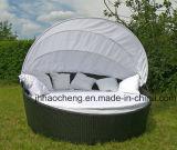 Кровать ротанга Wicker круглой кровати Hc-W-Lb11 напольная