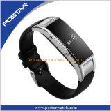 本革ストラップが付いているMult-機能スマートな腕時計