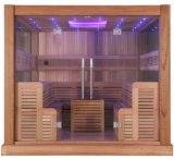 Stanza asciutta di sauna di disegno di modo di Monalisa con il soffitto del LED (M-6046)