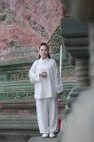 Ropa oblicua del collar del resorte de las mujeres de la ji de Wudang Tai del Taoism y del lino del verano