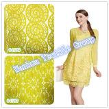 Tessuto del merletto del ricamo del tessuto di cotone dell'indumento