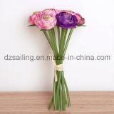 Flor artificial decorativa romántica del ramo de la boda del ranúnculo (SF14653B)