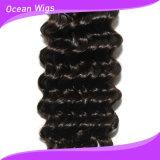 Quercyの毛新しい100%の人間のバージンのRemyのモンゴルの深い波の毛の拡張