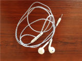 Branco 3.5mm Wired Earphone com o Microphone para o iPhone