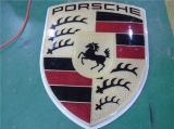 Logotipo do carro do emblema da luz do emblema do logotipo do carro vermelho do diodo emissor de luz 3D auto