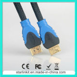 Hochgeschwindigkeits-HDMI Cable 3D 4k Gold Plated Black Blue