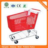 Carro de compra de quatro rodas da venda quente plástica pura com cadeira