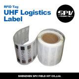 ISO 18000-6C чужеземца H3 9640 бумаги с покрытием бирки UHF снабжения RFID
