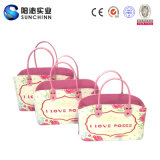 I unità di elaborazione Leather Handbag di Love Roses Set 3 per Women
