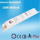 bloc d'alimentation interne de 35W 1000mA DEL avec TUV SAA RoHS
