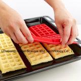 Molde popular do chocolate do silicone para a ferramenta Sc39 do cozimento do bolinho do Waffle